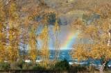 Benmore spillway rainbow